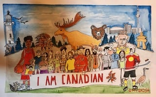 HAPPY CANADA DAY! I drew this picture to celebrate 22 years of being a proud Canadian. God Bless this beautiful country and my fellow Canadians. A country where you can be yourself , enjoy your culture, your ethnicity and be a proud Canadian at the same time . We live harmoniously in this multicultural society .  This year a special thanks to all our frontline workers and our political leaders in trying to help us stay safe and healthy both physically, emotionally and economically during this pandemic. God Bless Canada 🇨🇦🙏🙏